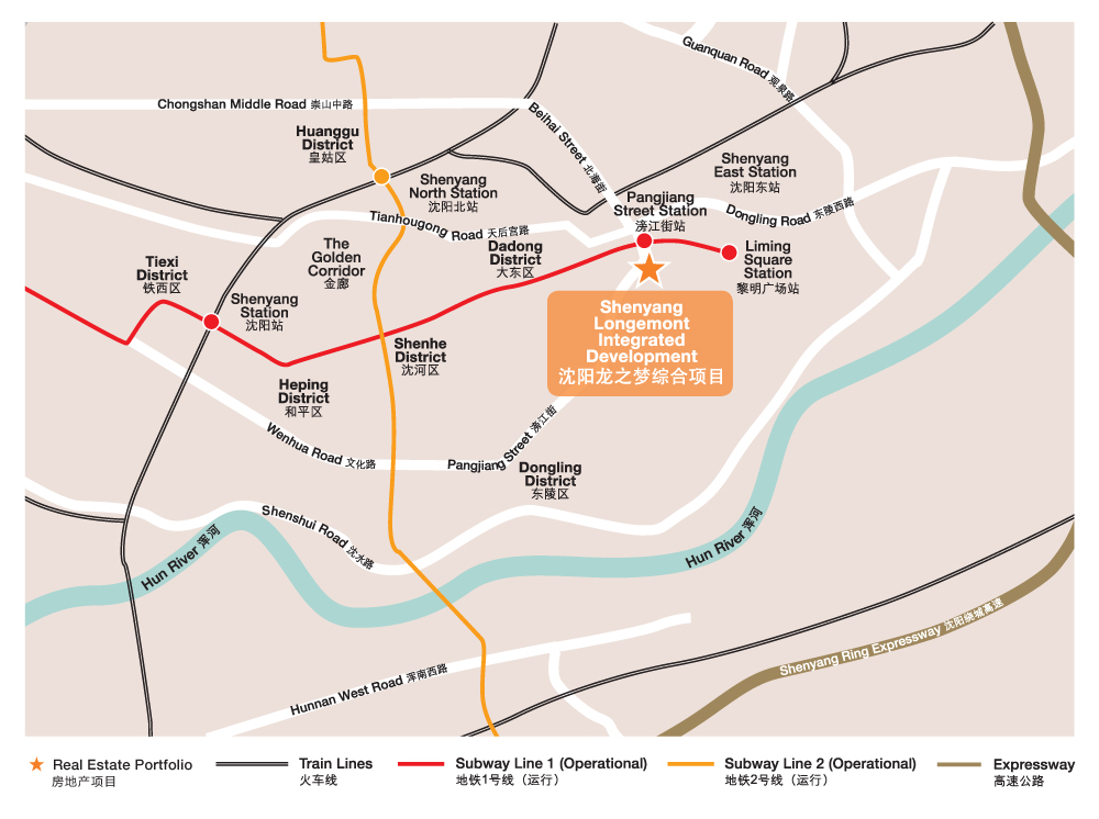 Location of Shenyang Longemont Offices