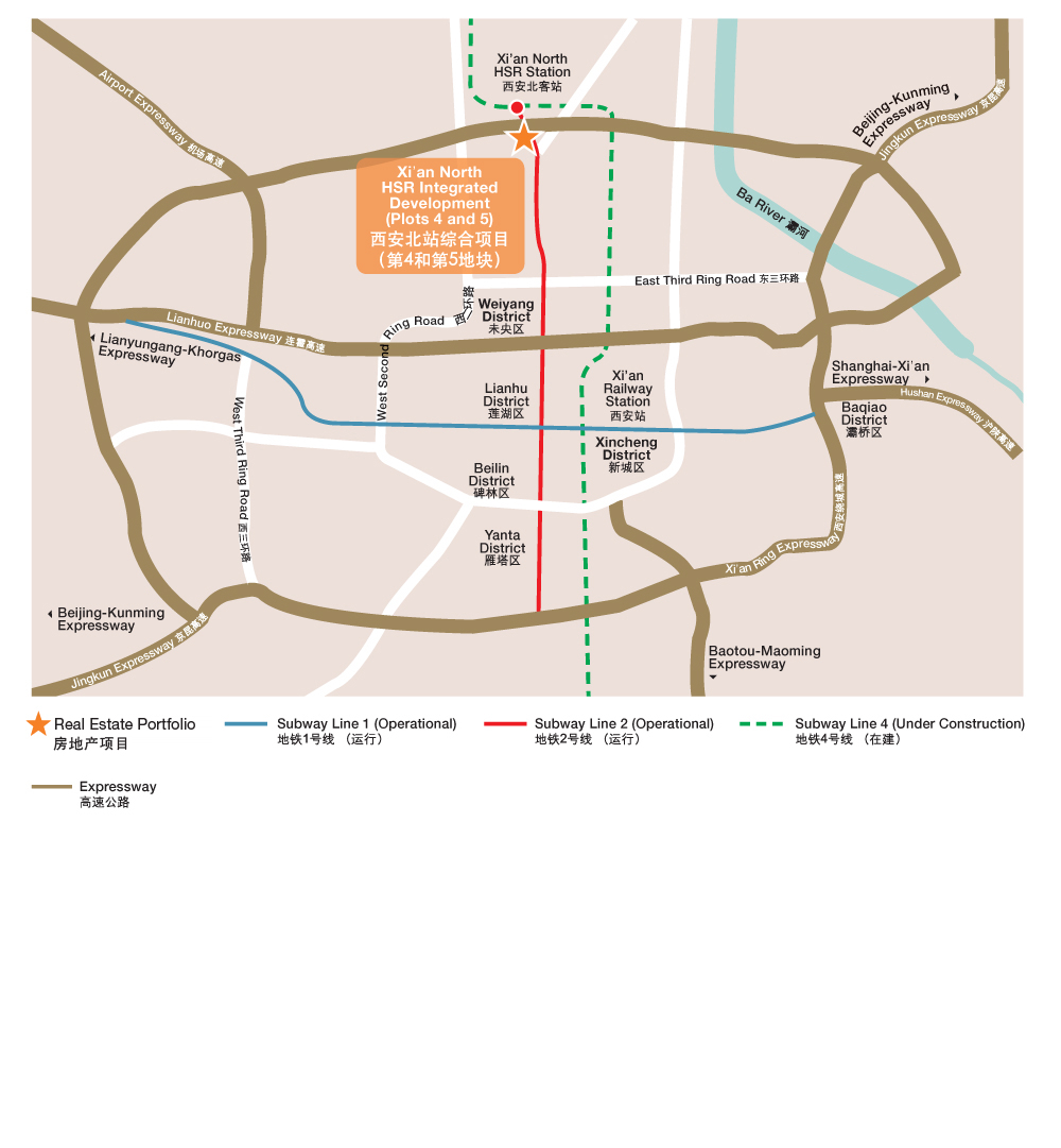 Site Plan of Xi'an North HSR Integrated Development Plot 5